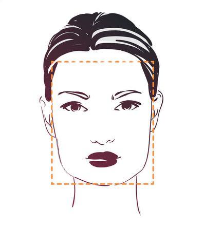 vierkante gezichtsvorm